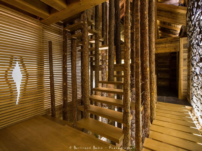 Chalet Montagnole Escalier Atelier Monts & Merveilles Serre-Chevalier 4