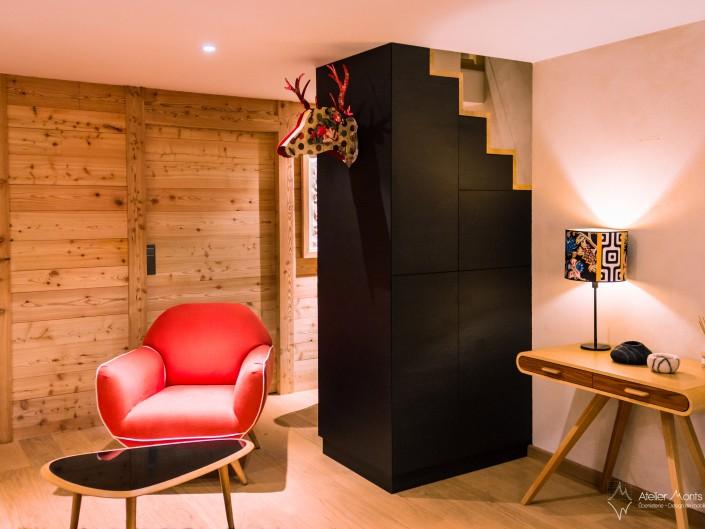Appartement Vieux Village Agencement Intérieur Atelier Monts & Merveilles Serre-Chevalier